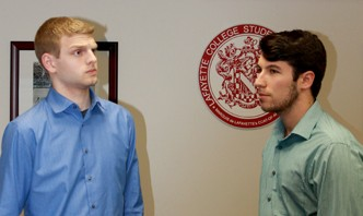 Connor Heinlein '15 and Ryan Monahan '15 were voted into President and Vice President of StuGov.