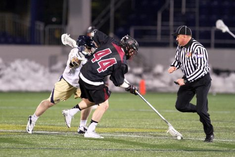 Winning ground balls, as shown above, has been a major concern for Lafayette this season.