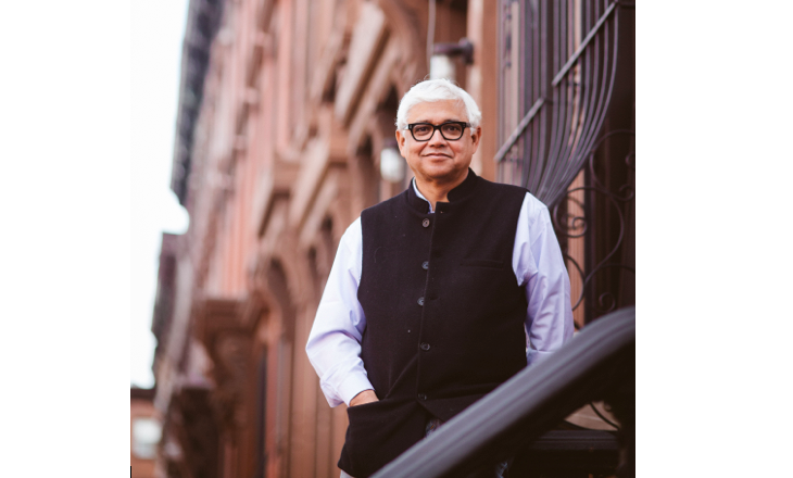Amitav+Ghosh+visited+the+college+to+speak+on+climate+change.+Courtesy+of+Communications.
