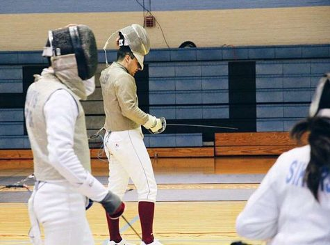The Leopards  went 3-2 overall in their fencing competition at John Hopkins. Photo Courtesy of Zachary Lee