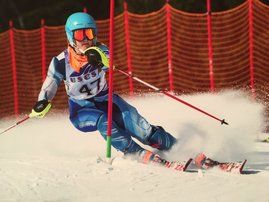 Senior+skier+Sydney+Burton+has+earn+three+first+place+finishes+so+far+this+season.+Photo+Courtesy+of+Sydney+Burton+18
