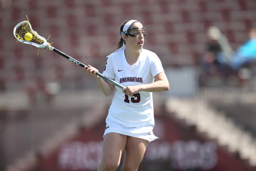 Junior+attacker+Jane+Kirby+%28pictured%29+was+one+of+three+Leopards+named+to+the+Academic+All-Patriot+League+team.+%28Photo+courtesy+of+Athletic+Communications%29