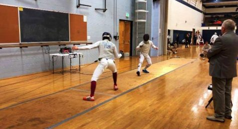 The two-day tournament provided an opportunity for younger fencers to get exposure to the sport at the college level. (Photo courtesy of Zack Lee)