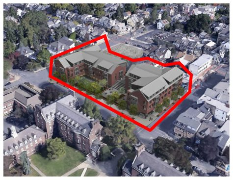 The McCartney Street residence halls will begin construction in the first week of June following approval on the project from the board. (Photo courtesy of Roger Demareski)