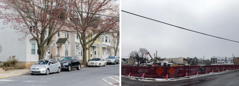 After the demolition on McCartney Street, College Hill residents are struck by the look of emptiness. (Photos by Elle Cox 21, Morgan Sturm 19)