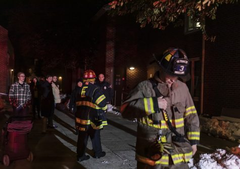 Easton firefighters responded to a fire in Watson Courts Wednesday night. (Photo by Elle Cox 21)
