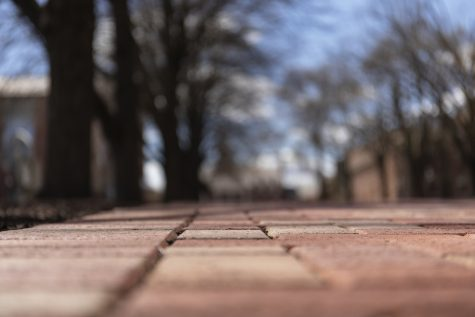 Many of the sidewalks surrounding campus will be redone using state grant money received by the college and the city of Easton. (Photo by Elle Cox 21)
