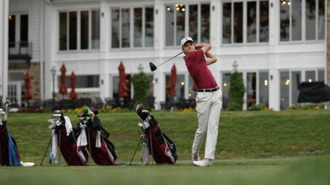 Junior Ryan Tall shot an even-par 72 in the second day of the tournament. (Photo courtesy of Athletic Communications)