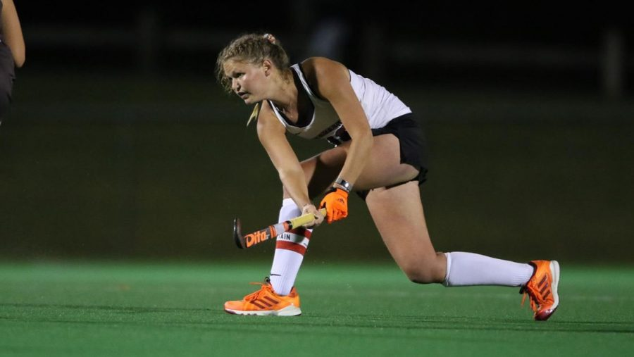 Senior+captain+Lisa+van+der+Geest+has+received+four+consecutive+Patriot+League+weekly+honors.+%28Photo+courtesy+of+Athletic+Communications%29