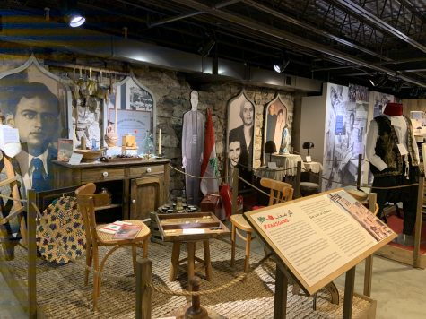 The exhibition Destination Northampton County currently displays the lives and stories of Lebanese immigrants as well as other  communities in the area. (Photo by Katie Frost 22)
