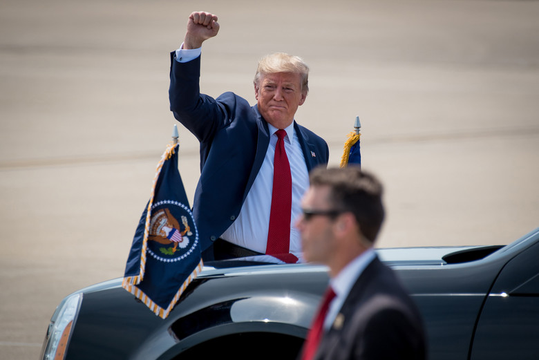 Despite+Democrats+voting+in+unity+to+convict%2C+President+Donald+Trump+was+acquitted+of+his+alleged+crimes+on+Wednesday.+%28Photo+courtesy+of+Dale+Greer%29