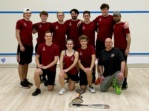 The team earned upset wins over Swarthmore and Notre Dame at Nationals. (Photo courtesy of Peter Torrente 20)