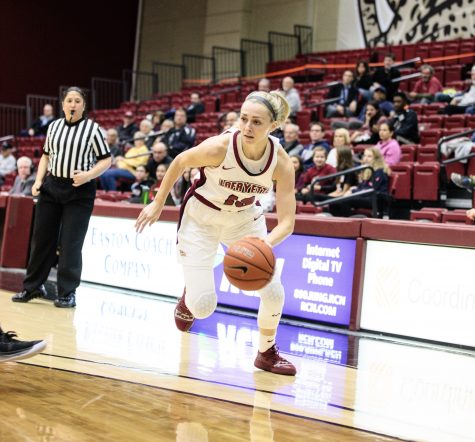 Senior guard Sarah Agnello averaged 6.8 points in her final season at Lafayette. (Photo courtesy of Clay Wegrzynowicz/Lafayette communications)