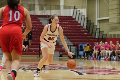 Junior forward Natalie Kucowski is the only player in school history to record 1000 points and 1000 rebounds. (Photo courtesy of Athletic Communications)