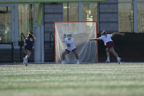 Junior Quinn Lacy was named the Patriot League Goalkeeper of the Week. (Photo courtesy of Athletic Communications)