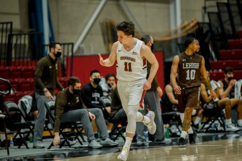 Senior guard Justin Jaworski was named to the All-Patriot League First Team last week. (Photo courtesy of Athletic Communications)
