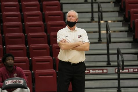 Head coach Fran O'Hanlon is the longest tenured coach at Lafayette and the fifth-longest tenured coach in NCAA Division I basketball currently.(Photo courtesy of athletic communications)
