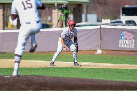 Freshman outfielder Justin Grech had a team-high two RBIs in Sundays loss. (Photo courtesy of Athletic Communications)