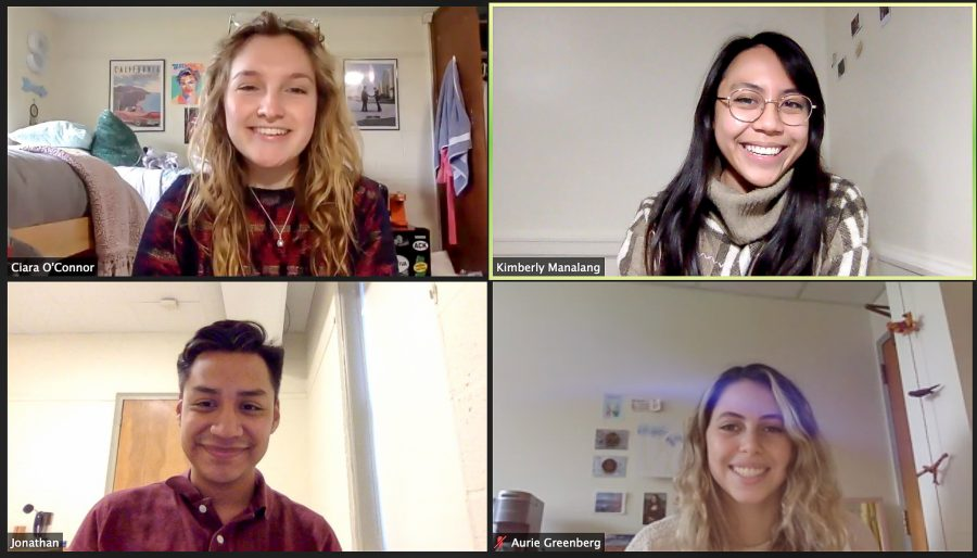 The+organizers+of+the+Continuing+the+Conversation+on+ICE+panel.+The+panel+was+the+first+of+three+programs+held+for+Migration+Week.+%28Not+pictured%3A+Chelsea+Daniels+21+and+Huslen+Dashpurev+22%29+%28Photo+courtesy+of+Kimberly+Manalang+21%29