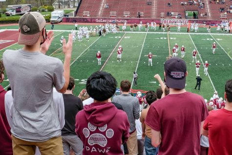 Attendance was limited to 2600 spectators in the 156th edition of The Rivalry. (Photo by Caroline Burns 22)