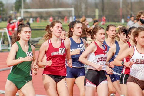 Senior Liv Palma (19) placed 16th overall in the womens 1500-meter run. (Photo courtesy of Athletic Communications)