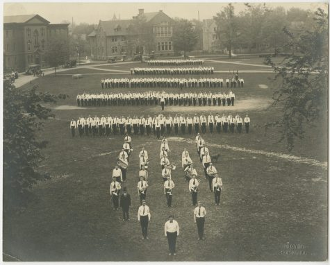 Camp Lafayette on the Lafayette College quad in the early 1900s. (Photo courtesy of the Lafayette College Archives)