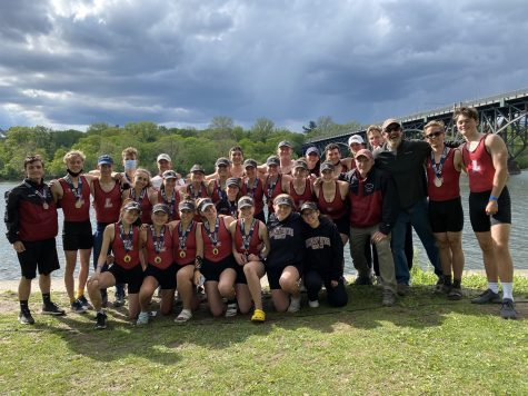 The Lafayette crew team at the 2021 Dad Vail Regatta. (Photo courtesy of Sherry Deng 22)