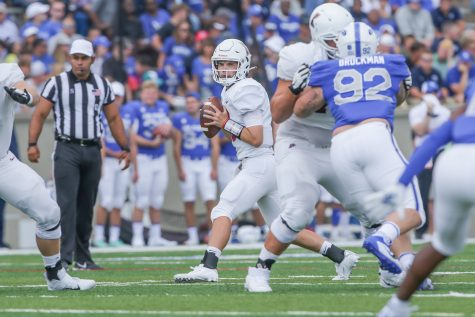 The Lafayette football team opens up their season with a hard game against the United States Air Force Academy (31-14). (Photo courtesy of Athletic Communications)