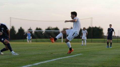 Senior Marcos Kitromilides was invaluable to securing mens soccers second win of the season. (Photo courtesy of Athletic Communications)