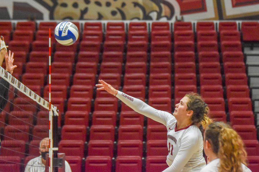 Womens+volleyball+will+be+entering+Patriot+League+play+following+win+against+St.+Francis.%0A%28Photo+courtesy+of+Cole+Jacobson+24%29