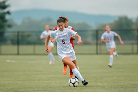 Lafayette women's soccer drops first conference game to Boston University with a score of 2-1. (Photo courtesy of goleopards.com)
