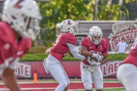 Freshman quarterback Ah-Shaun Davis stands out as the Lafayette football team puts on a dominant performance at Family Weekend, claiming their first win (24-14) over the University of Pennsylvania. (Photo courtesy of Cole Jacobson 24)