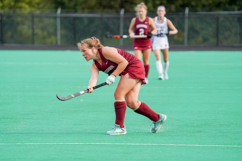 Lafayette field hockeys Felicitas Hannes was named Patriot League Offensive Player of the Week honors after scoring her first career hat trick on Saturday. (Photo courtesy of Athletic Communications)