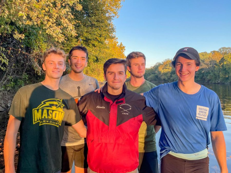 The Lafayette crew team medaled in every event they participated in on Sunday at the Overpeck Fall Classic in Leonia, NJ, dominating in both the mens and womens Collegiate 4+ and Collegiate 8+ events. (Photo courtesy of Abby Hammel 23)