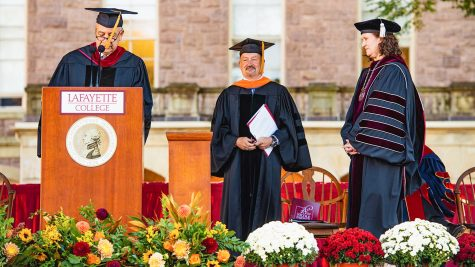 Speaking to students, professors, alumni, trustees, local media and more on campus, President Hurd outlined her vision for Lafayette and emphasized the importance of community during inauguration. (Photo courtesy of Lafayette News)