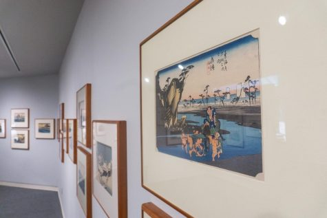 Utagawa Hiroshiges exhibit transports the audience into Japans military past. (Photo by Pierson White 24)