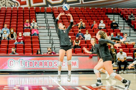 The Lafayette College volleyball team is now 5-1 in the conference as well as being on a five-match winning streak after dominating American (3-0). (Photo courtesy of Athletic Communications)