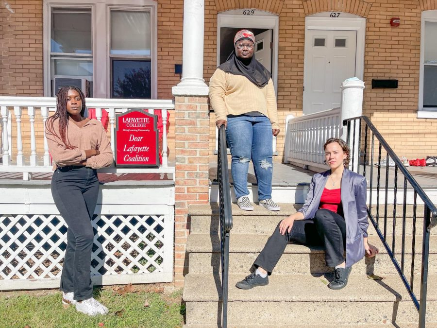 Members of the Dear Lafayette executive board (pictured above) hope to welcome new members to their organization with recruiting events this fall. (Photo by Naomi Ganpo-Nkwenkwa 22)