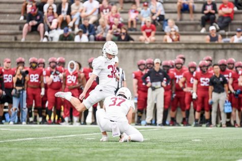 The Lafayette football team fell short in the challenging game against the 19th-ranked Harvard (30-3) as they struggled with offensive turnovers. (Photo courtesy of GoLeopards.com)