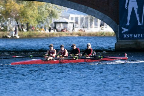 The Lafayette mens crew team will have the opportunity to add a boat at the largest two-day regatta in the world at the Head of the Charles Regatta. After years of being unable to receive a bid, the mens team will once again be competing. (Photo courtesy of Hana Isihara 17)